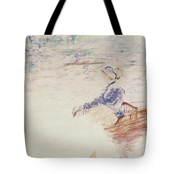 Sketch Of A Young Woman In A Boat Tote Bag by Berthe Morisot
