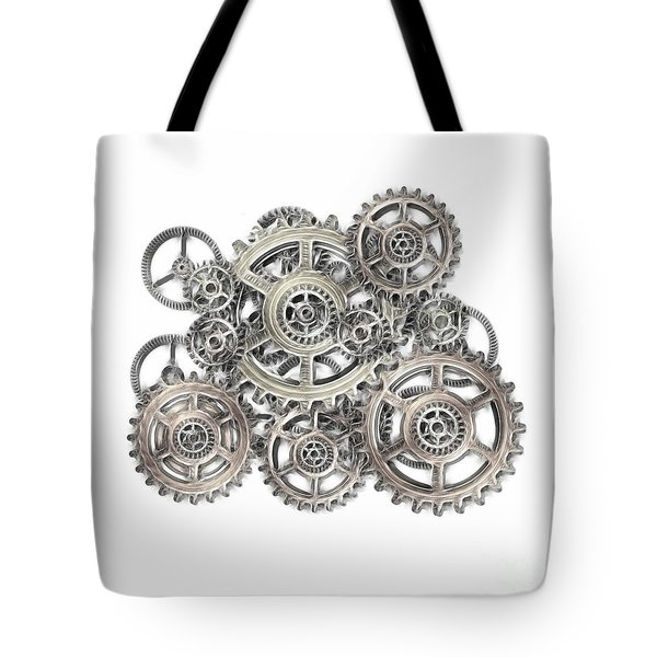 Sketch Of Machinery Tote Bag by Michal Boubin