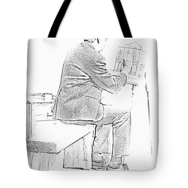 Sketch Of Old Man Painting  Alberta Tote Bag