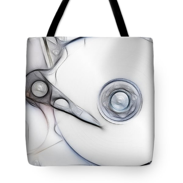 Sketch Of The Hard Disc Tote Bag by Michal Boubin