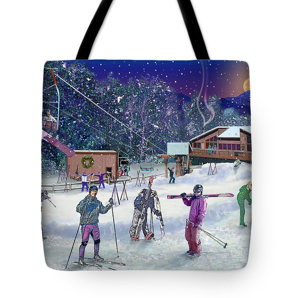 Ski Area Campton Mountain Tote Bag