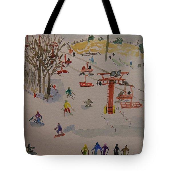 Ski Area Tote Bag