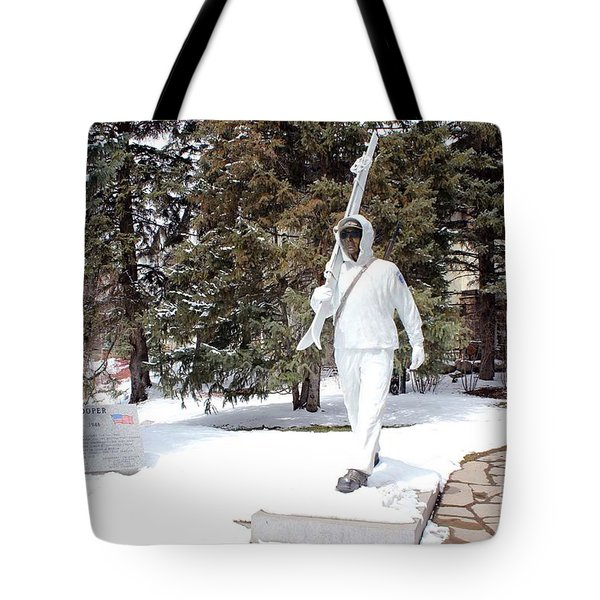 Tote Bag featuring the photograph Ski Trooper by Fiona Kennard