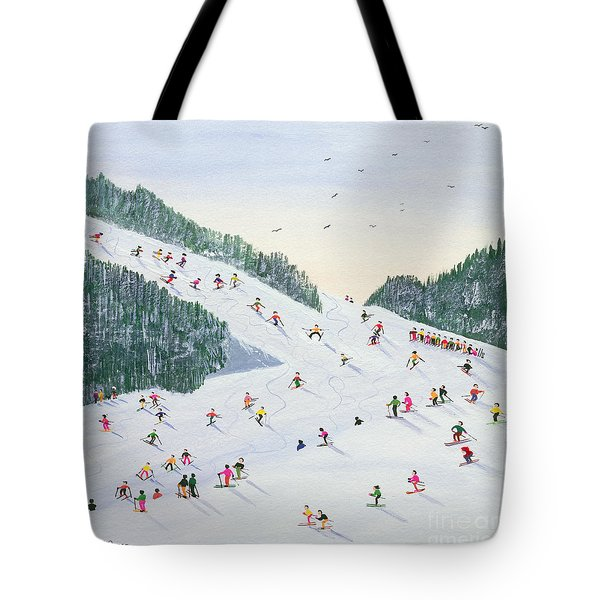Ski Vening Tote Bag by Judy Joel