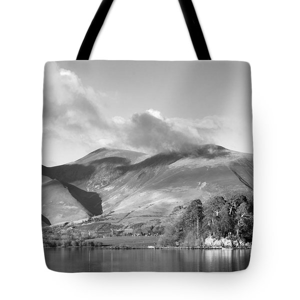 Skiddaw And Friars Crag Mountainscape Tote Bag by Linsey Williams