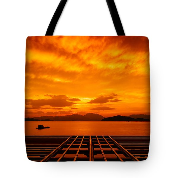 Skies Ablaze - One Tote Bag