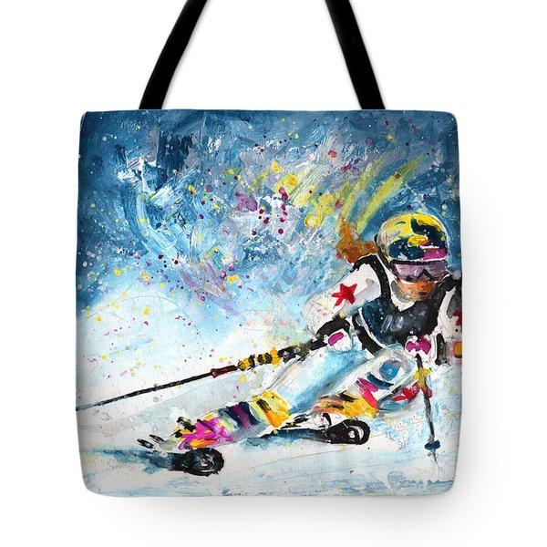 Skiing 03 Tote Bag