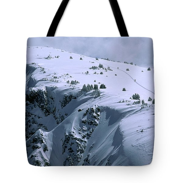 Skiing Backcountry In The Rocky Tote Bag