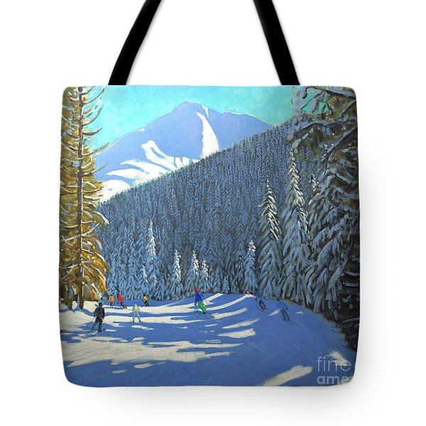 Skiing  Beauregard La Clusaz Tote Bag