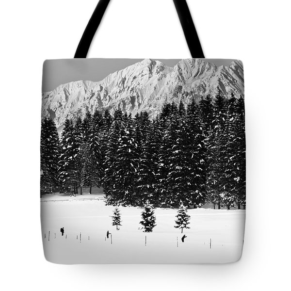 Skiing In The White Tote Bag