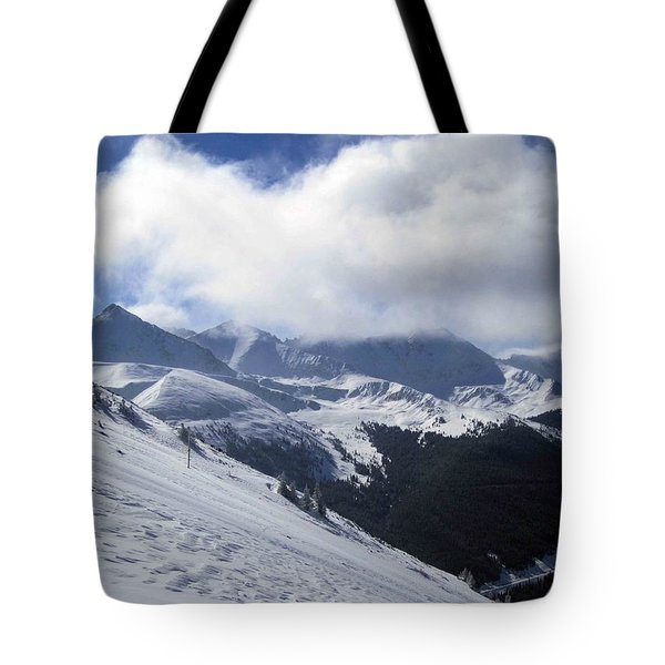 Tote Bag featuring the photograph Skiing With A View by Fiona Kennard