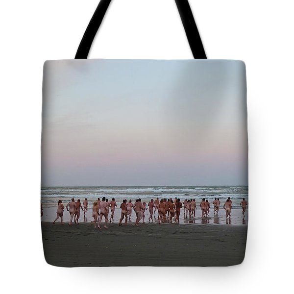 Skinny Dipping Down A Moon Beam Tote Bag