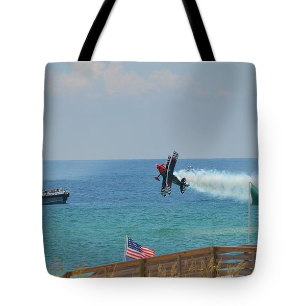 Tote Bag featuring the photograph Skip Stewart Extreme Low-level Practice by Jeff at JSJ Photography