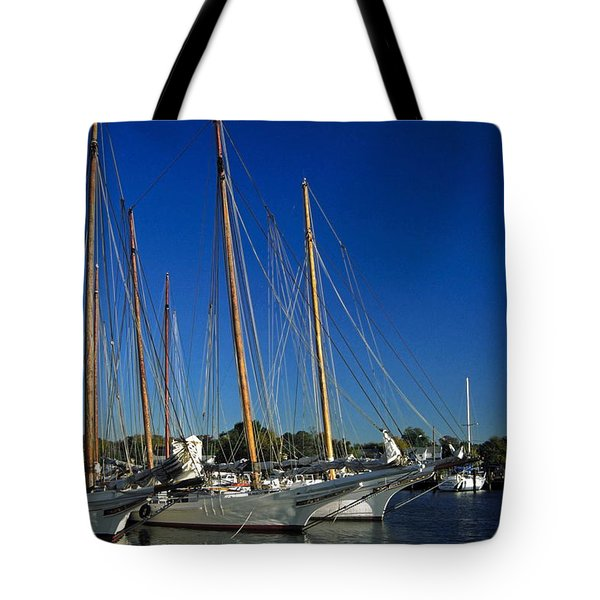 Skipjacks  Tote Bag by Sally Weigand