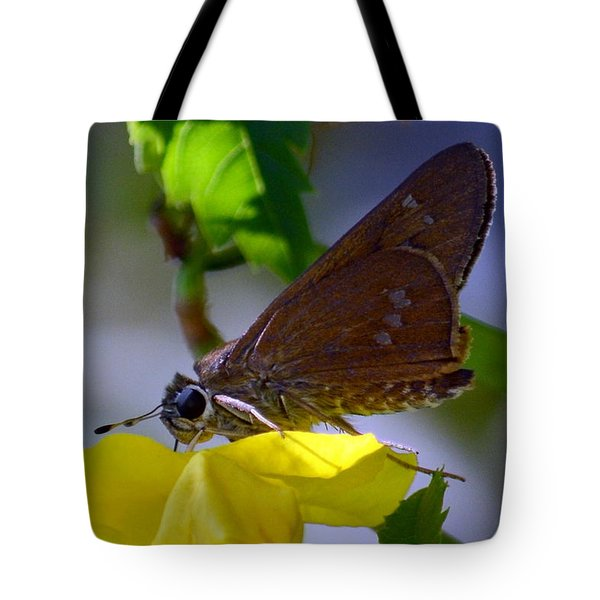Tote Bag featuring the photograph Skipper Butterfly by Debra Martz