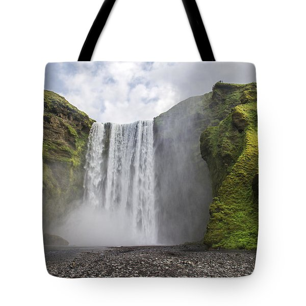 Skogarfoss Waterfall Tote Bag