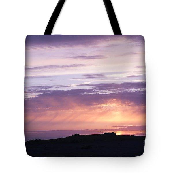 Skomer Sunset Tote Bag by Anne Gilbert