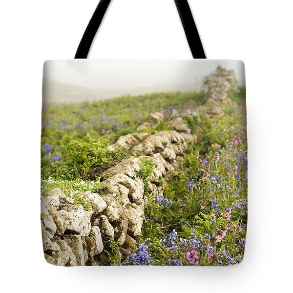 Skomer Wildflowers Tote Bag by Anne Gilbert