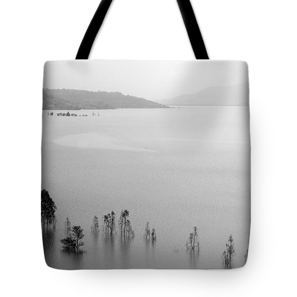 Tote Bag featuring the photograph Skc 0055 A Hazy Riverscape by Sunil Kapadia