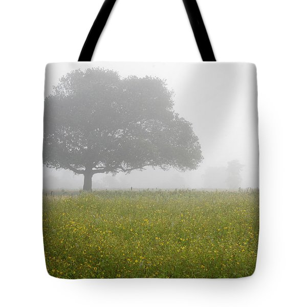 Tote Bag featuring the photograph Skc 0056 Tree In Fog by Sunil Kapadia