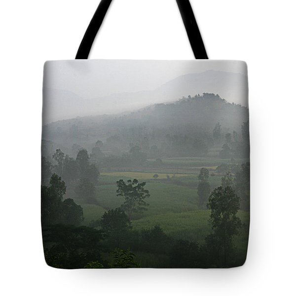 Tote Bag featuring the photograph Skc 0079 A Winter Morning by Sunil Kapadia