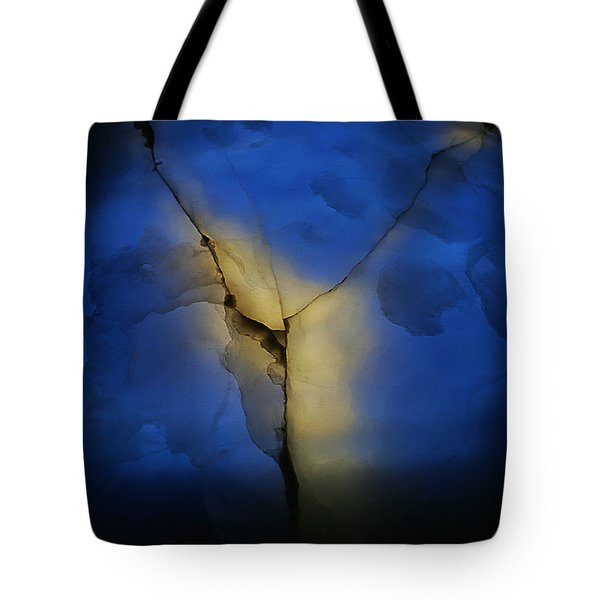 Tote Bag featuring the photograph Skc 0243 Cracked Y by Sunil Kapadia