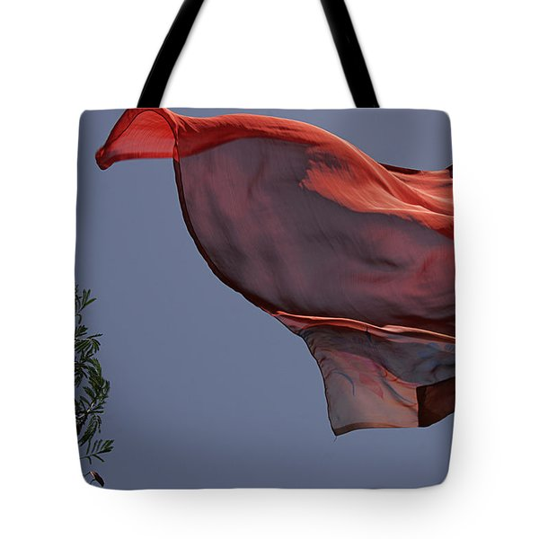 Tote Bag featuring the photograph Skc 0958 The Flying Saree by Sunil Kapadia