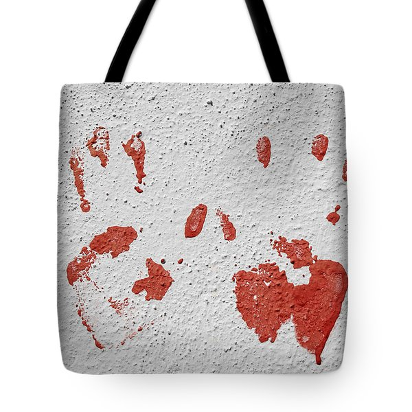 Tote Bag featuring the photograph Skc 1058 Palm Impressions by Sunil Kapadia