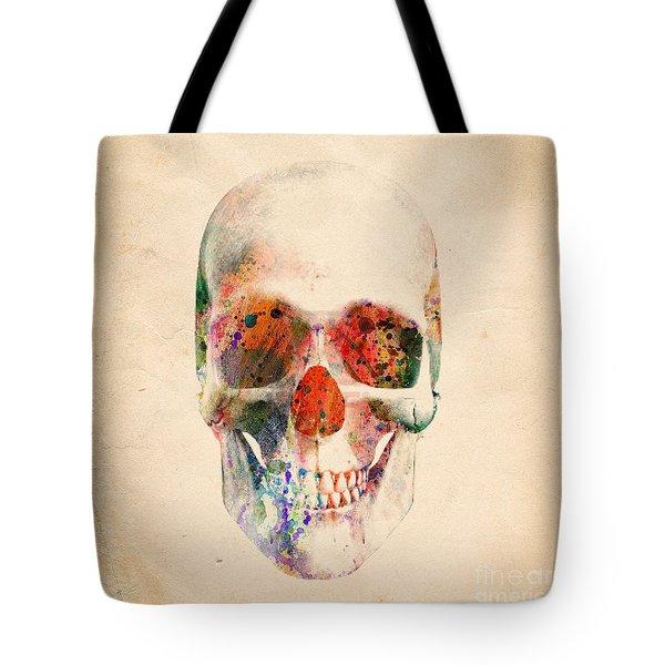 Skull 12 Tote Bag by Mark Ashkenazi
