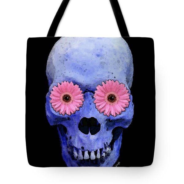Skull Art - Day Of The Dead 1 Tote Bag by Sharon Cummings