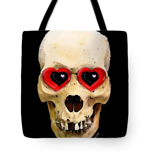 Skull Art - Day Of The Dead 2 Tote Bag by Sharon Cummings