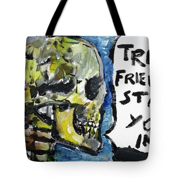 Skull Quoting Oscar Wilde.2 Tote Bag by Fabrizio Cassetta