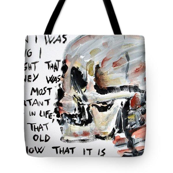 Skull Quoting Oscar Wilde.3 Tote Bag by Fabrizio Cassetta