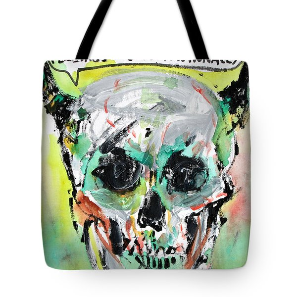 Skull Quoting Oscar Wilde.8 Tote Bag by Fabrizio Cassetta