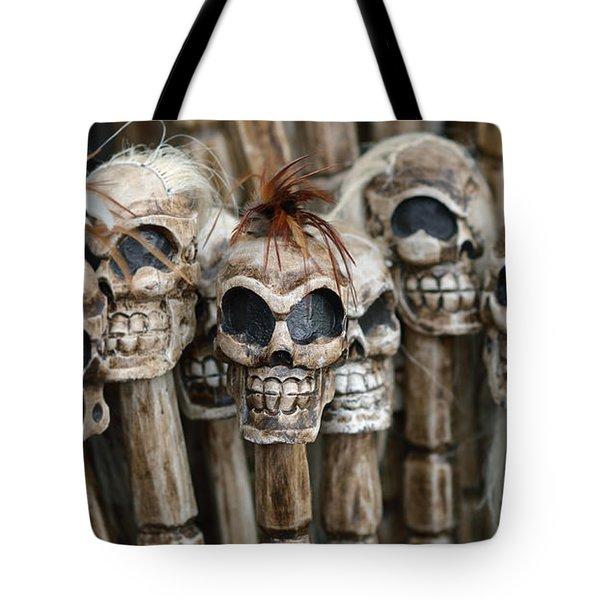 Skull Sticks Tote Bag