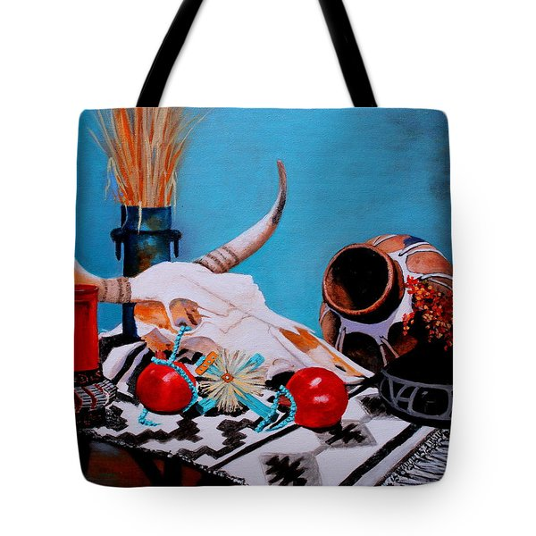 Skull Still Life Tote Bag