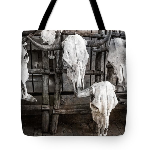 Skulls Of New Mexico Tote Bag by Steven Bateson