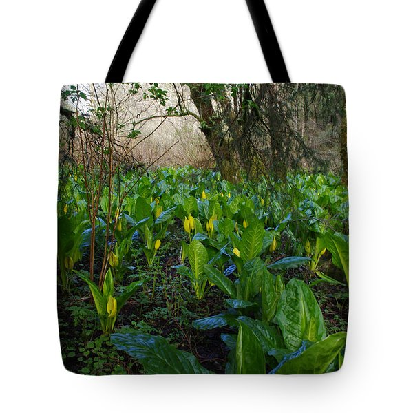 Skunk Cabbages Tote Bag by Adria Trail