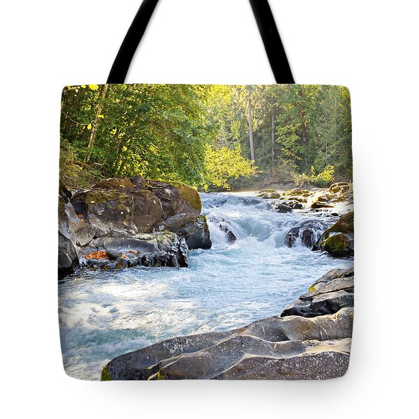 Skutz Falls At Cowichan River Provincial Park Tote Bag