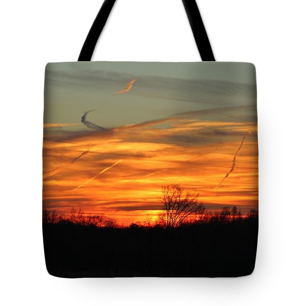 Sky At Sunset Tote Bag by Cynthia Guinn