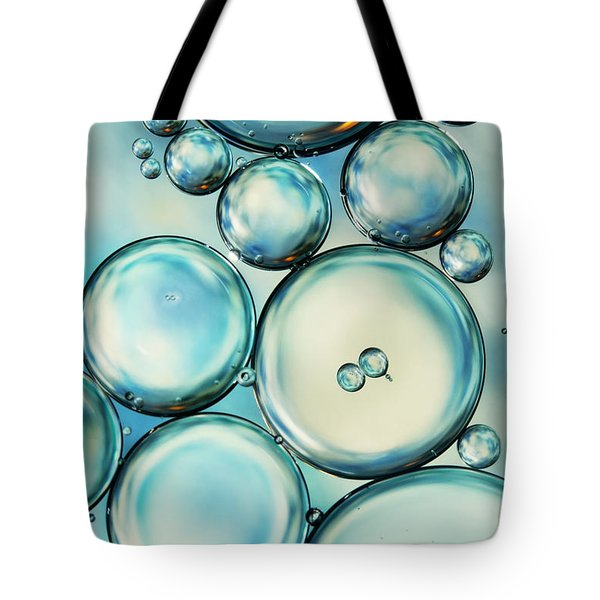 Sky Blue Bubble Abstract Tote Bag