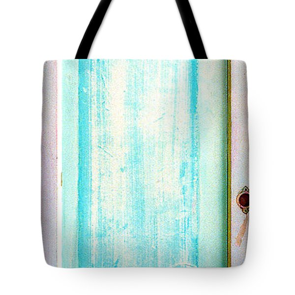 Sky Blue Entrance Entre Vous Tote Bag by Asha Carolyn Young