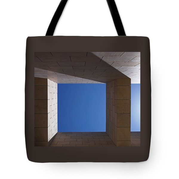 Sky Box At The Getty  Tote Bag by Rona Black