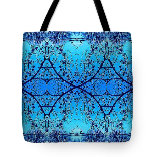 Sky Diamonds Abstract Photo Tote Bag