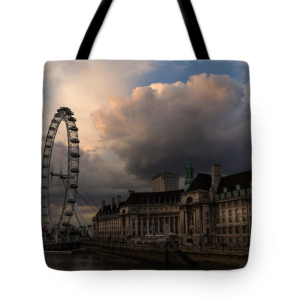 Sky Drama Around The London Eye Tote Bag
