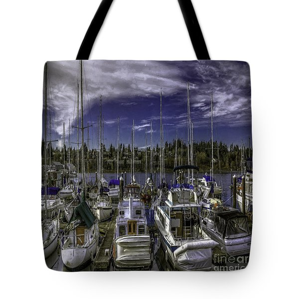 Tote Bag featuring the photograph Sky Embrace by Jean OKeeffe Macro Abundance Art