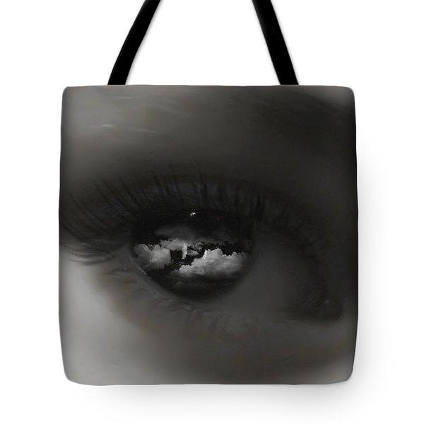 Sky Eye Tote Bag by Kristie  Bonnewell