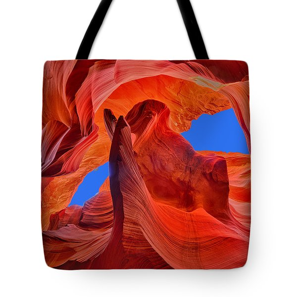 Sky Eyes In Antelope Canyon Tote Bag