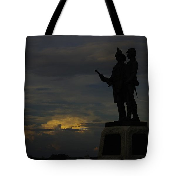 Sky Fire - 73rd Ny Infantry 4th Excelsior 2nd Fire Zouaves - Summer Evening Thunderstorms Gettysburg Tote Bag