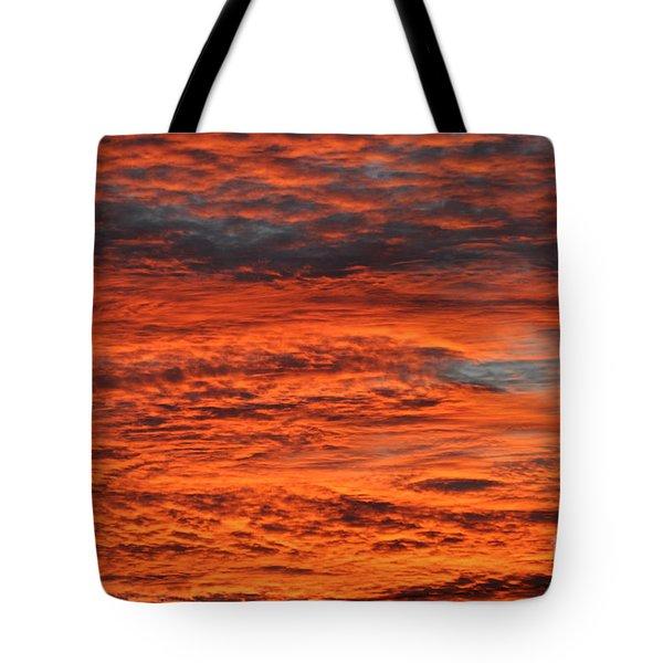 Sky Fire  Tote Bag